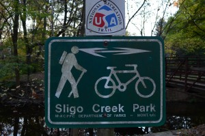 Sligo Creek Trail sign